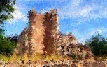 Photo of Castle changed to Impressionist Style.