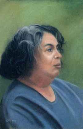 Pastel Portrait of a Woman.